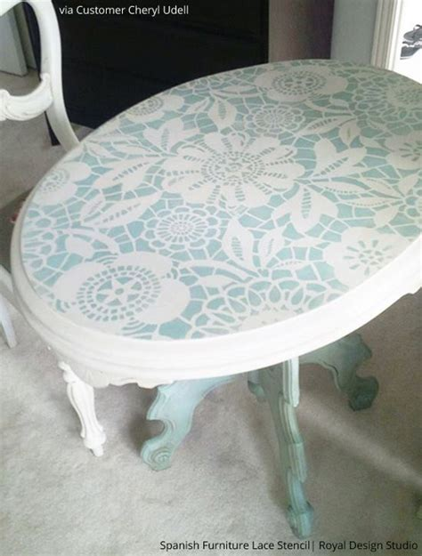 17 best ideas about stencil table on stenciled