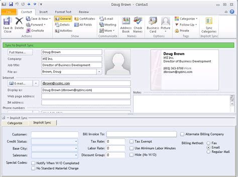 implicit sync integrating sales and marketing crm with outlook
