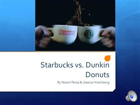 Starbucks Vs Dunkin Donuts Authorstream Starbucks Powerpoint Template