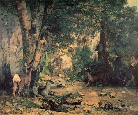 Courbet Sleepers by The Shelter Of The Roe Deer At The Of Plaisir