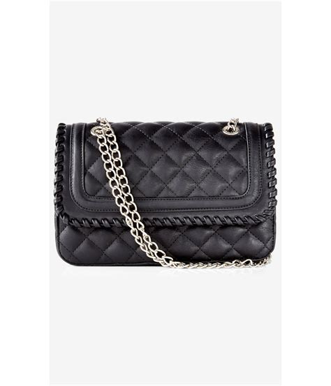 Chain Quilted Shoulder Bag black quilted chain shoulder bag leather travel bags