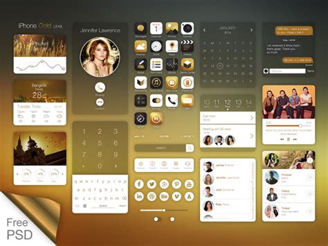 home design app gold awesome collection of free flat psd ui kits graphicloads