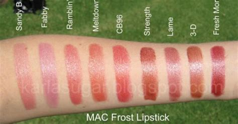 A Fabby Up by Mac Lipstick Swatches B Fabby Ramblin