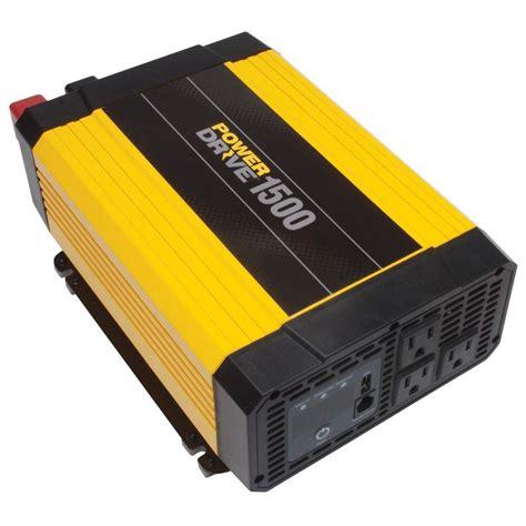Inverter Charger 500 Watt 2 In 1 Suoer Saa 500wc powerdrive 1 500 watt power inverter yellow black rppd1500 the home depot