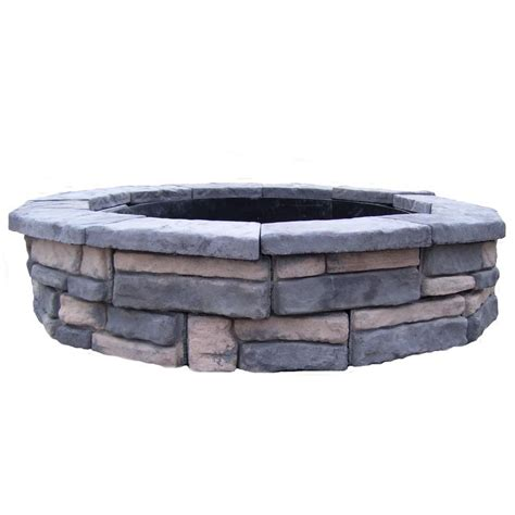 Home Depot Firepit Fossill 60 In Concrete Random Limestone Pit Kit Shopyourway