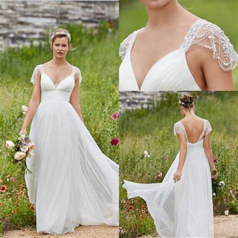 Lowback Ribbon Dress garden lihi hod wedding dresses v neck cap sleeve low back