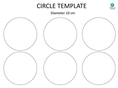 free circle template with 10cm diameter templates at