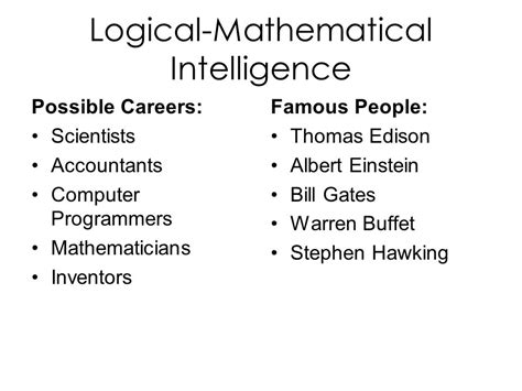 Mathematical Intelligence intelligences ppt