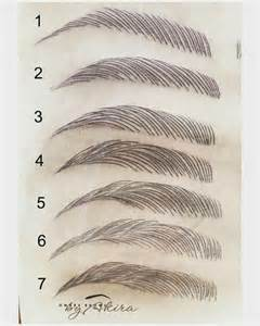 eyebrow shape template top 25 best eyebrow shapes ideas on eyebrow