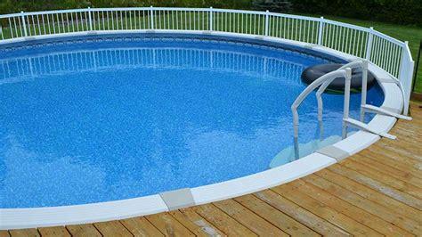 easy deck footings   ground pool decks