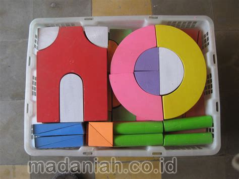 Balok Pdk alat peraga edukasi balok pdk isi 50 warna pinus