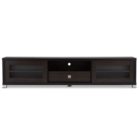 70 inch tv cabinet baxton studio beasley 70 inch brown tv cabinet with 2