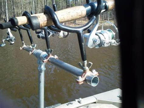 diy pontoon boat rod holders diy rod holders for boat google search boat building