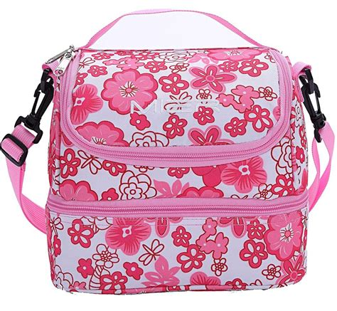 Cooler Bag Tots Hounstooth T1310 1 mier decker insulated lunch box pink soft cooler