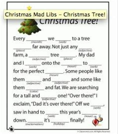 printable christmas mad libs christmas mad libs printable holidays events pinterest