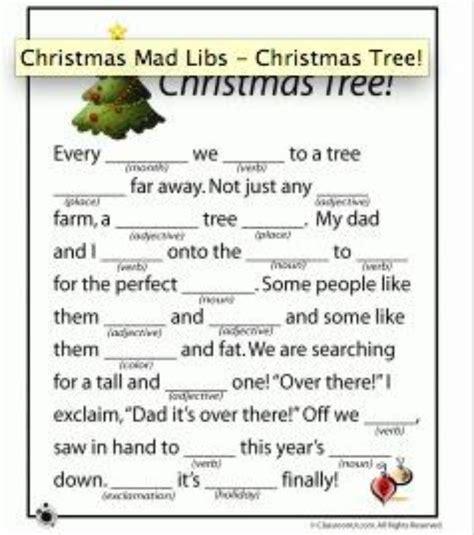 printable holiday mad libs christmas mad libs printable holidays events pinterest