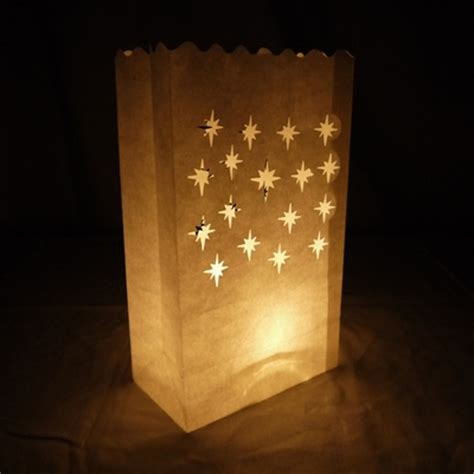 How To Make Luminaries With Paper Bags - small starburst paper luminaries luminary lantern bags