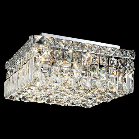Elegant Lighting 2032F12C/EC Crystal Maxime Square Flush Mount Ceiling Fixture