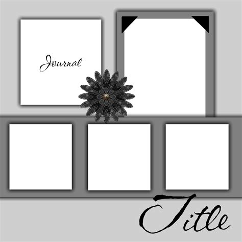 free printable scrapbook layout templates free scrapbook