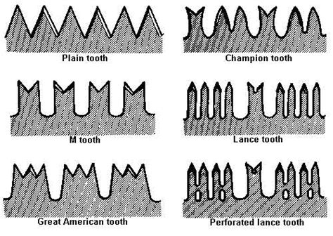 blade shaped teeth that function in cutting goods eddy lumber
