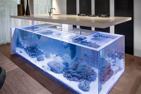 Fish Tank In Kitchen by Kitchen Aquarium Island Hiconsumption