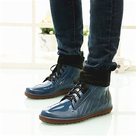 boat shoes in rain rain boots for men yu boots