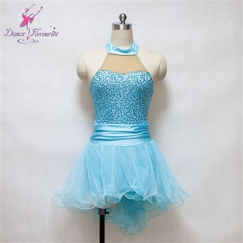 light blue dance costumes light blue sequin dress ballet dance costume for