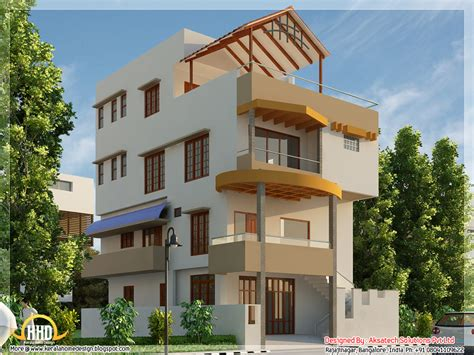 modern 1 floor house designs 5 beautiful modern contemporary house 3d renderings kerala home design and floor plans