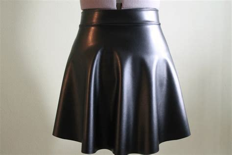 faux leather skater skirt sewing projects burdastyle