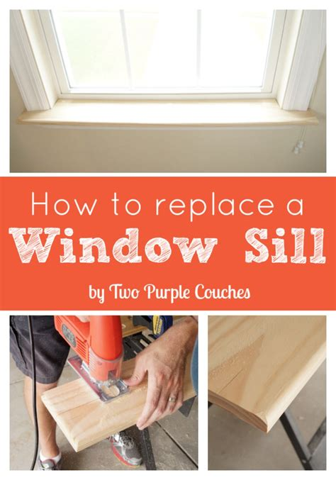 How To Remove Interior Window Sill by How To Replace An Interior Window Sill Two Purple Couches