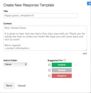 Review Assistant Improve Your Hotel Or Restaurant Review Responses Revinate Hotel Review Response Template