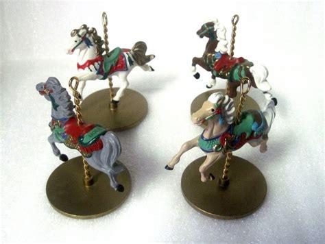 carousel ornament carousel hallmark ornament 1989