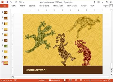 animated aboriginal artwork powerpoint template