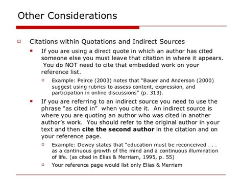 apa format quoting a quote within an article apa in text citations