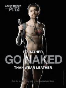 Afi s davey havok strips down for peta anti leather ad campaign
