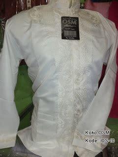 Baju Koko Katun Halus Bkrez 05 baju koko putih polos
