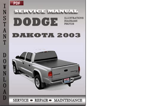 download car manuals pdf free 2003 dodge dakota club engine control dodge dakota 2003 factory service repair manual download
