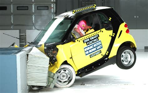 smart car test crash test results of a smart car to a large suv car