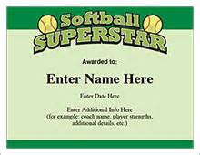 Free Softball Certificate Templates by Softball Certificates Free Award Certificates