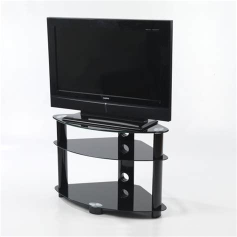small three black glass shelf corner lcd plasma tv stand