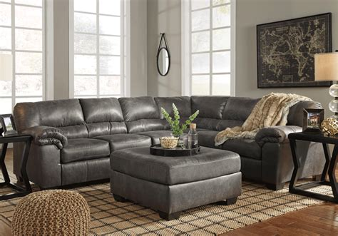 Raf Sofa Sectional by Bladen Slate 3pc Raf Sofa Sectional Louisville
