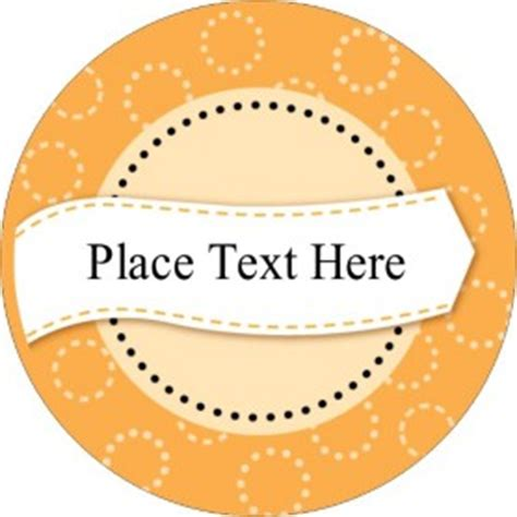 Templates Orange Dotted Circles Print To The Edge Round Labels 9 Per Sheet Avery Avery 22830 Template