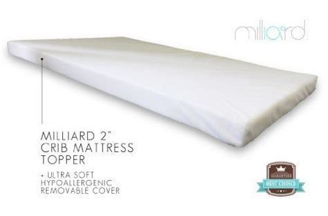 Crib Mattress Memory Foam Topper Milliard 2 Quot Ventilated Memory Foam Portable Crib Mattress Topper 24 Quot