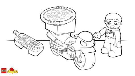 lego motorcycle coloring page lego 174 duplo 174 pizza delivery bike coloring page coloring