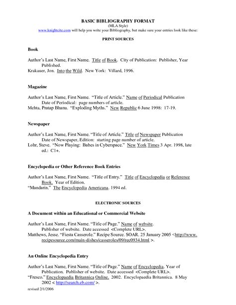 4 mla bibliography format website bibliography format inside