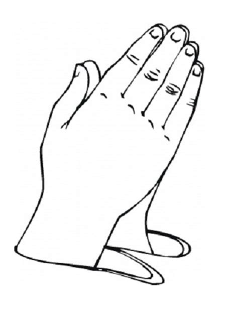 coloring page of praying hands child praying hands clipart panda free clipart images