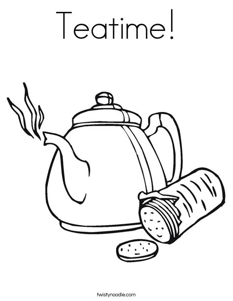 creative tea time coloring book coloring books teatime coloring page twisty noodle