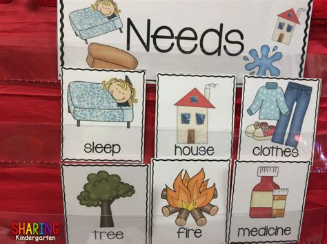 kindergarten activities needs and wants sharing kindergarten wants and needs with a freebie