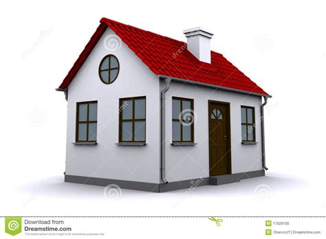 Cabin Plans For Sale A Small House With Red Roof Stock Illustration Image