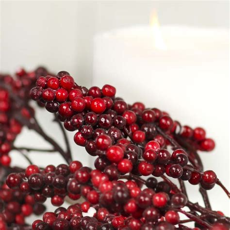 red artificial berry garland christmas garlands
